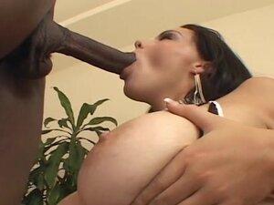 Big tit hottie likes black dick