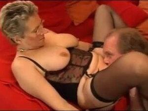 Stunning German Granny fucks her husband in