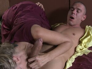 Buxom brown haired mommy Julia Ann blows and fucks