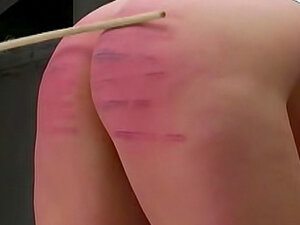 Her ass looks sexy from caning
