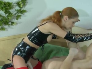 StraponPower Video: Salome and Adrian, Redhead