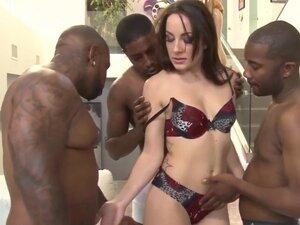 DEVILS FILM - Hot stocking babe licks interracial