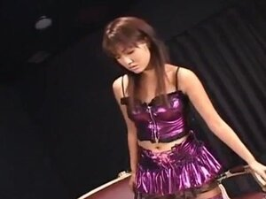Itsuka doll touches stiffy with feet in fishnets