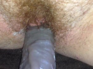Hairy ginger pussy gets creamy on omar dildo