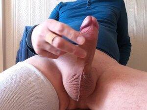 My solo 236 (Smooth juicy fat uncut cock unloads