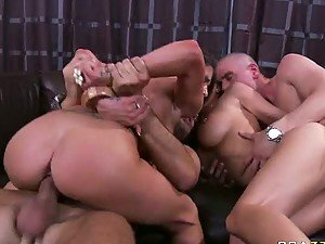 Incredibly Hot Brunette Babes Get Fucked In a Wild