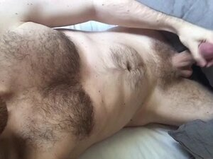 Hairy Hunk Cums Twice