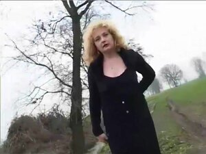 Mature blonde shows a young guy how to fuck -