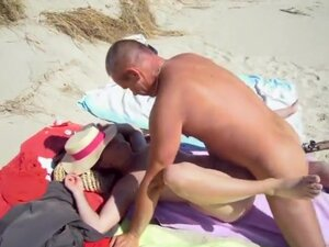 Hardcore sex with a mature couple at the nudist