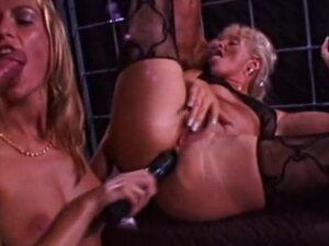 Awesome hardcore group sex with a blonde