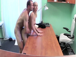 Nymphomaniac being banged hard by the doctor -
