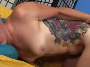 Petite pinkhaired young punk riding hard cock