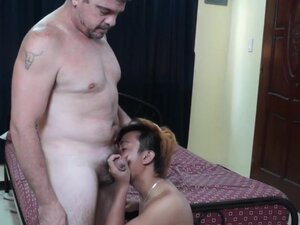 Breeding daddy pumping pinoys tight butt, Breeding
