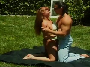Muscle Stud Fucks Petite Redhead In Park, This