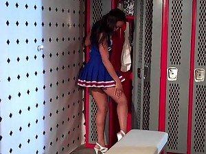 Black Cheerleader Misty Stone Gets an Interracial