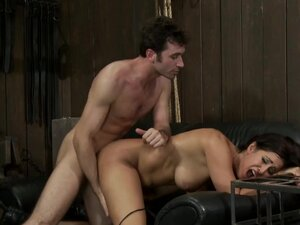Hot Blond, is caned, ass fucked & made to cum over