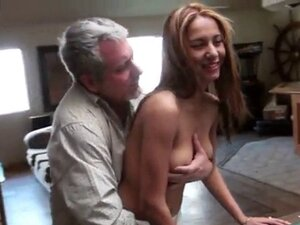 hot supple brunette hard fucked by old man