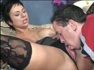 Brunette cougar gets her vagina licked and drilled