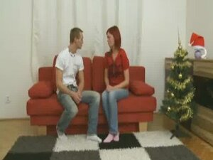 Gorgeous redhead is finally going to let her man