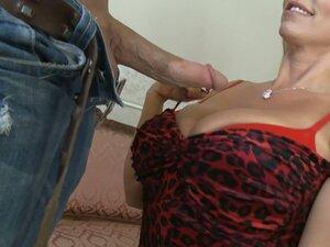 Busty mommy Karen Fisher sucks balls and blows