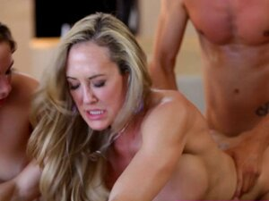 Surprise threesome with milf and girlfriend