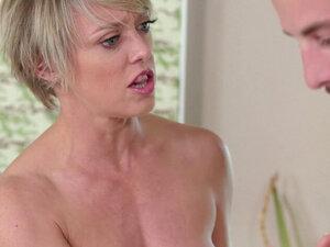 Naughty MILF seduces stepson into erotic Nuru and
