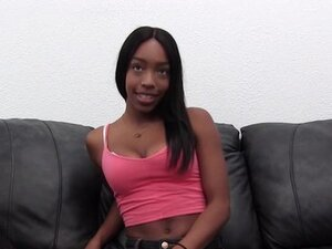 Interracial Casting Couch Anal and Cum Facial