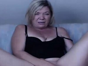 Hot mature woman in action -
