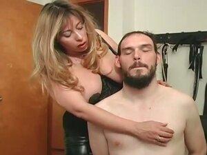 Sexy blonde mistress gets this man bound part1